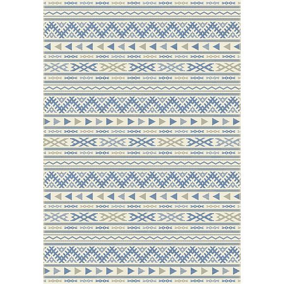Ravno Tkana Preproga Kelim 1 - naravna/modra, Moderno, tekstil (80/250cm) - Mömax modern living