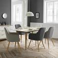 Stuhl Jule - Buchefarben/Grau, MODERN, Holz/Textil (57/92,5/46cm) - Modern Living