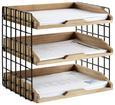 Briefablage Cage Braun/Schwarz - Schwarz/Braun, MODERN, Holz/Metall (34/26/18cm) - Modern Living