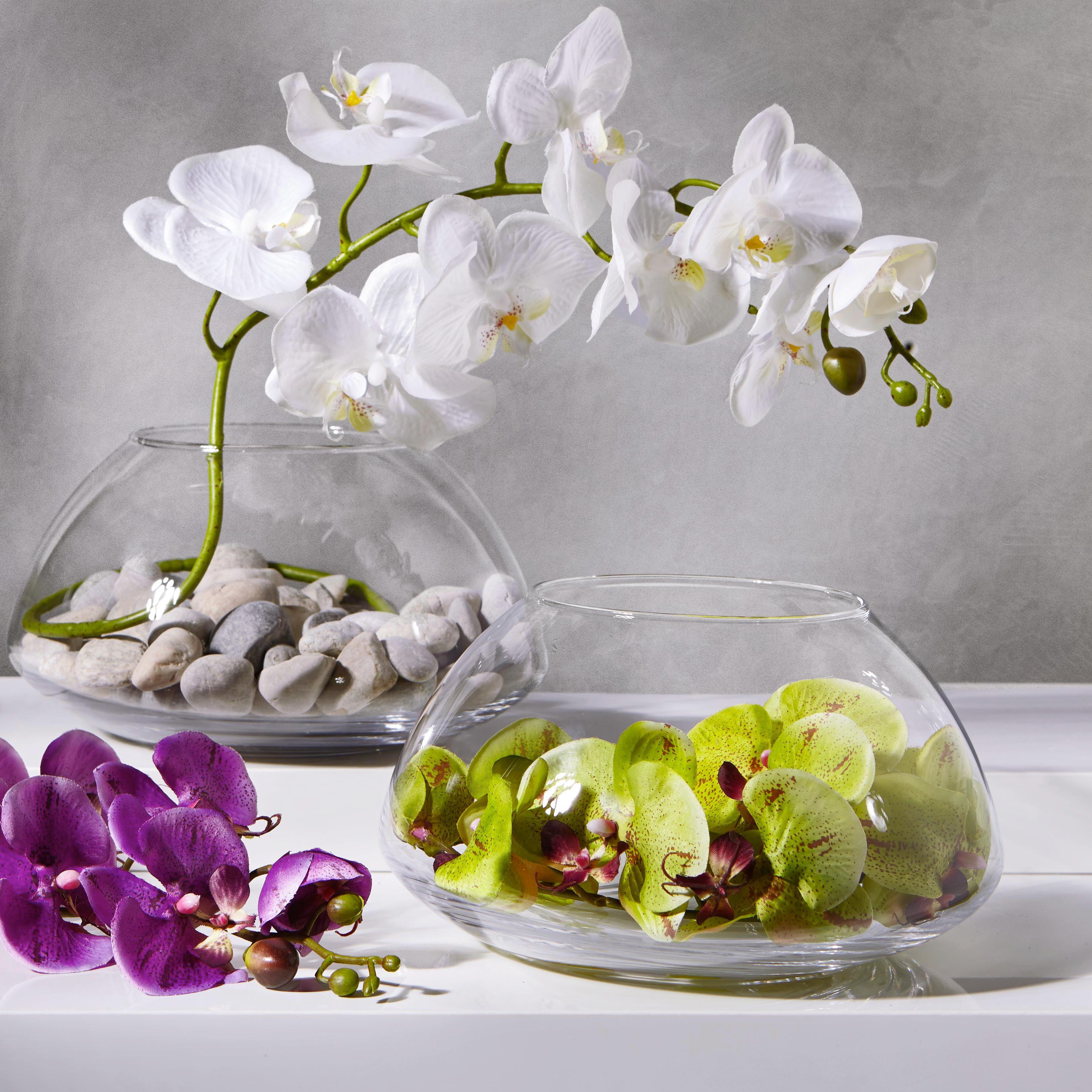 Vase Luna aus Glas - Klar, Glas (24,5/13,5cm) - MÖMAX modern living