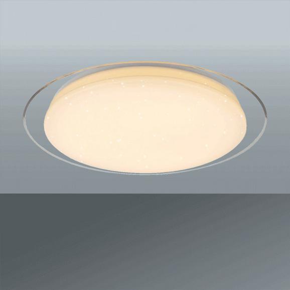 LED-Deckenleuchte Optima, max. 30 Watt - Weiß, KONVENTIONELL, Kunststoff/Metall (46cm)