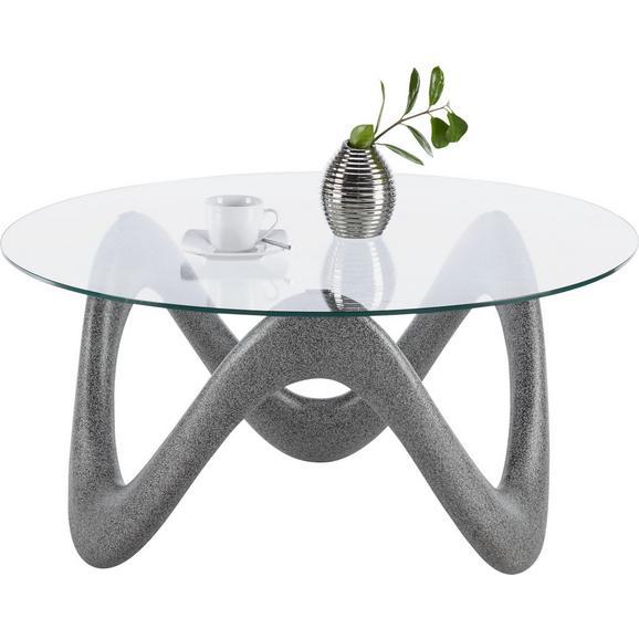 Couchtisch Glas Betonoptik - Klar/Grau, MODERN, Glas (90/44/90cm) - Modern Living