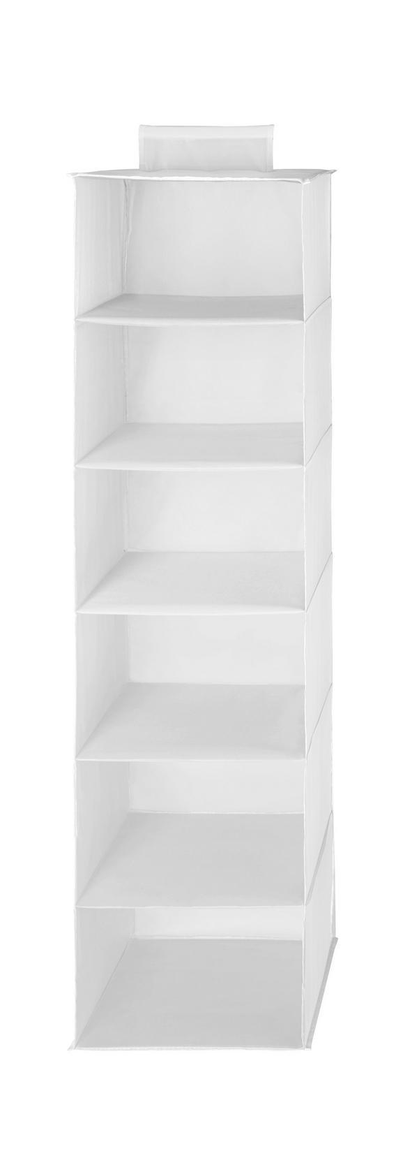 Hängeorganizer in Weiß mit 6 Fächer - Weiß, Textil (33/125cm) - Mömax modern living