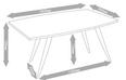 Tisch Tomi ca.180x90cm - Walnussfarben/Schwarz, MODERN, Holz/Metall (90/76/180cm) - Mömax modern living