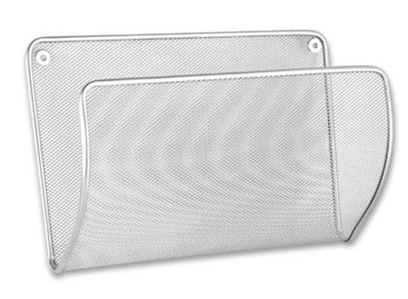 Iratrendező Mesh 682008 - ezüst színű, fém (32,5/21,5/13cm)