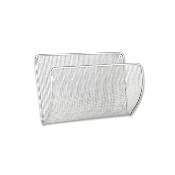 Zeitschriftenordner Mesh - Silberfarben, Metall (32,5/21,5/13cm) - Modern Living