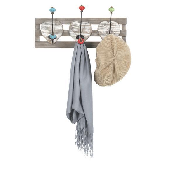 Garderobenpaneel Multicolor 'Anna' - Multicolor, Holz/Keramik (49/24/12,5cm) - Bessagi Home