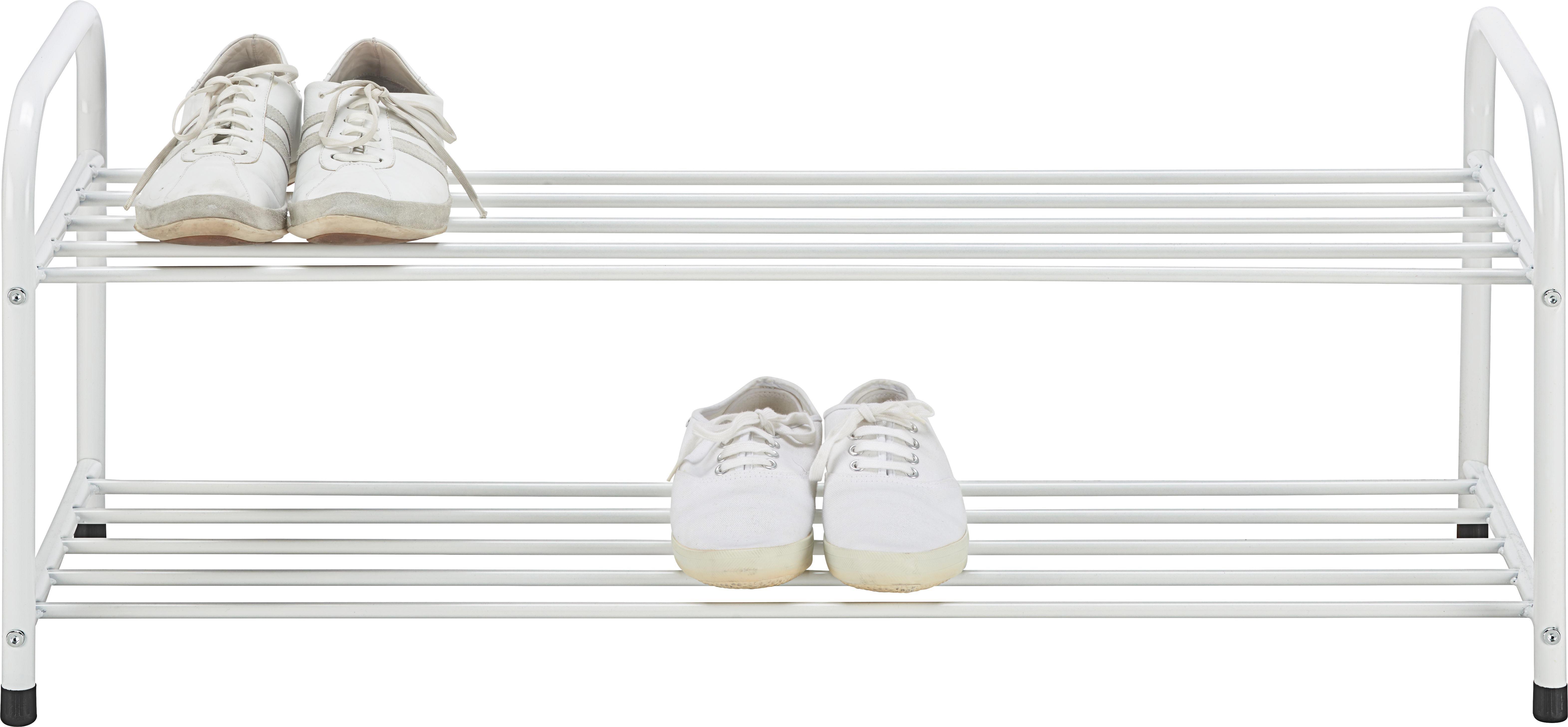 Cipőtároló Roger - fehér, fém (93/38/35cm) - BASED