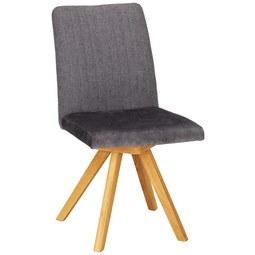 Stuhl in Anthrazit - Eichefarben/Anthrazit, KONVENTIONELL, Holz (46cm) - Premium Living