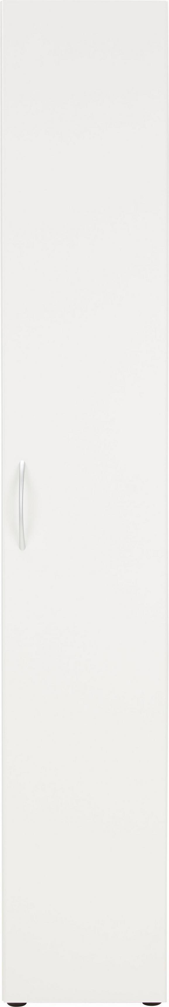 Večnamenska Omara Mrk - bela, umetna masa/leseni material (30/185/40cm)
