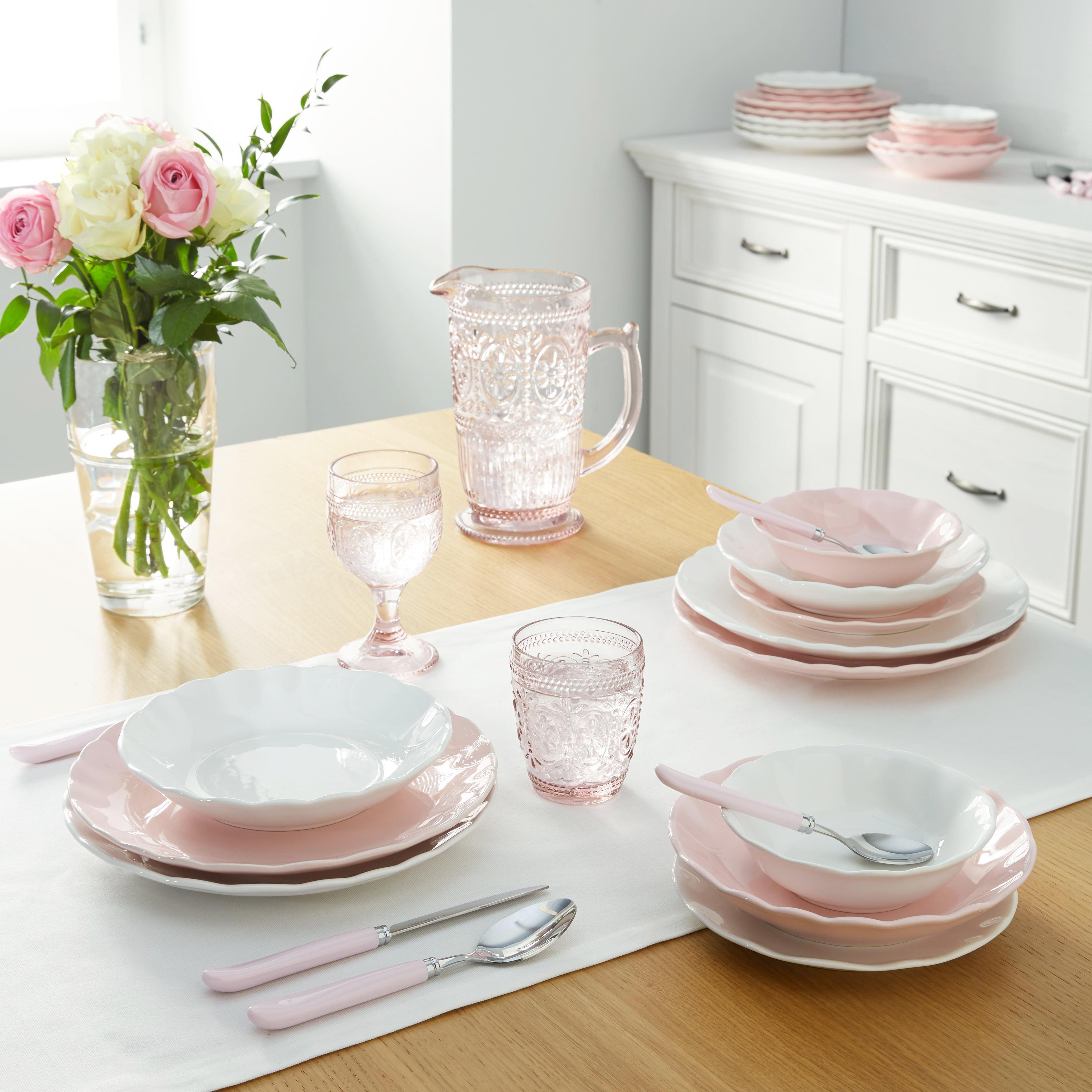 Üvegkancsó St. Remy - rózsaszín, romantikus/Landhaus, üveg (12-18/22,8cm) - ZANDIARA