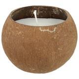 Kerze Kaia in Braun/creme - Creme/Braun, Weitere Naturmaterialien (11/8cm) - MODERN LIVING