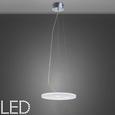 Pendelleuchte Pablo mit Led - Chromfarben/Weiß, MODERN, Glas/Metall (40/40/120cm) - Premium Living