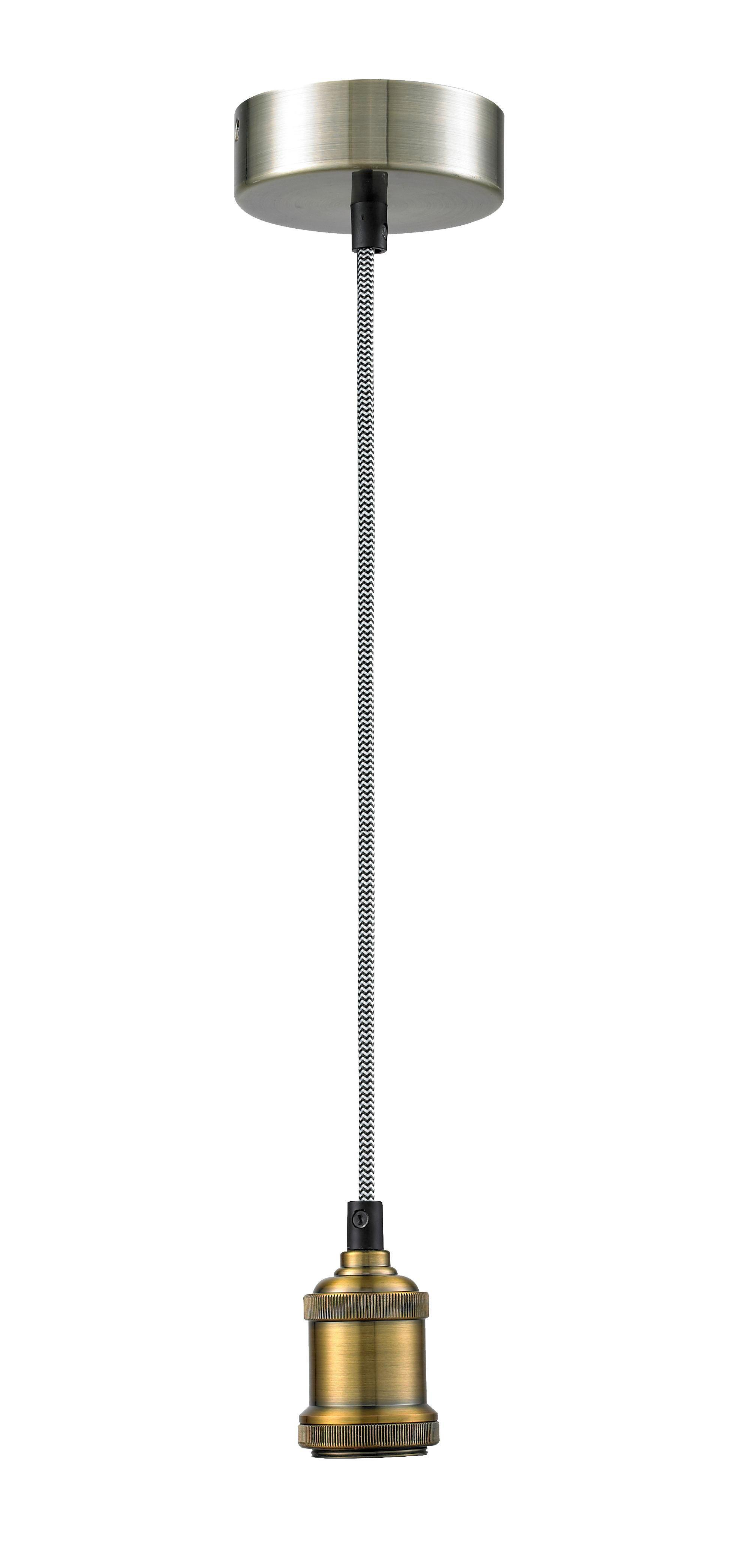 Schnurpendel Blacky, max. 60 Watt - Schwarz/Weiß, Textil/Metall (100/10/10cm) - MÖMAX modern living