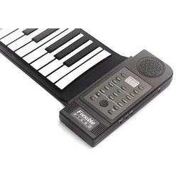Keyboard Piano in Schwarz/Weiß - Schwarz/Weiß, Basics, Kunststoff/Metall (72/12,5/9cm)