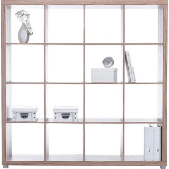 Raumteiler in Eichefarben mit 16 Fächer - Eichefarben, MODERN, Holz (154/157/35cm) - Mömax modern living