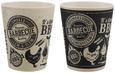 Becher Joel in verschiedenen Designs - Schwarz/Weiß, Holz (8/10cm)