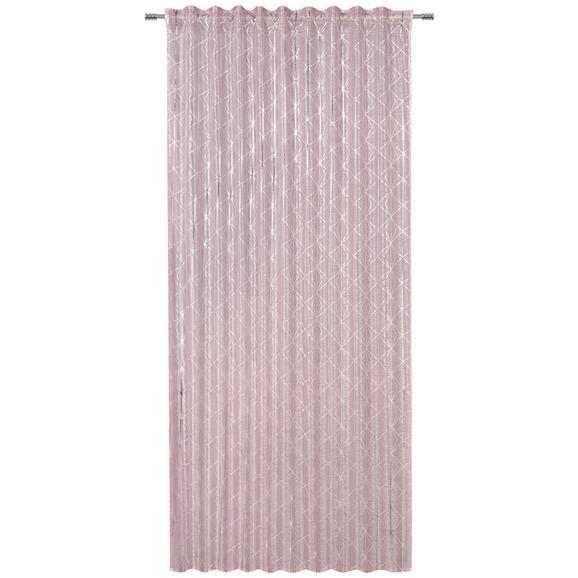 Készfüggöny Agnes - Rózsaszín/Fehér, konvencionális, Textil (140/245cm) - Mömax modern living