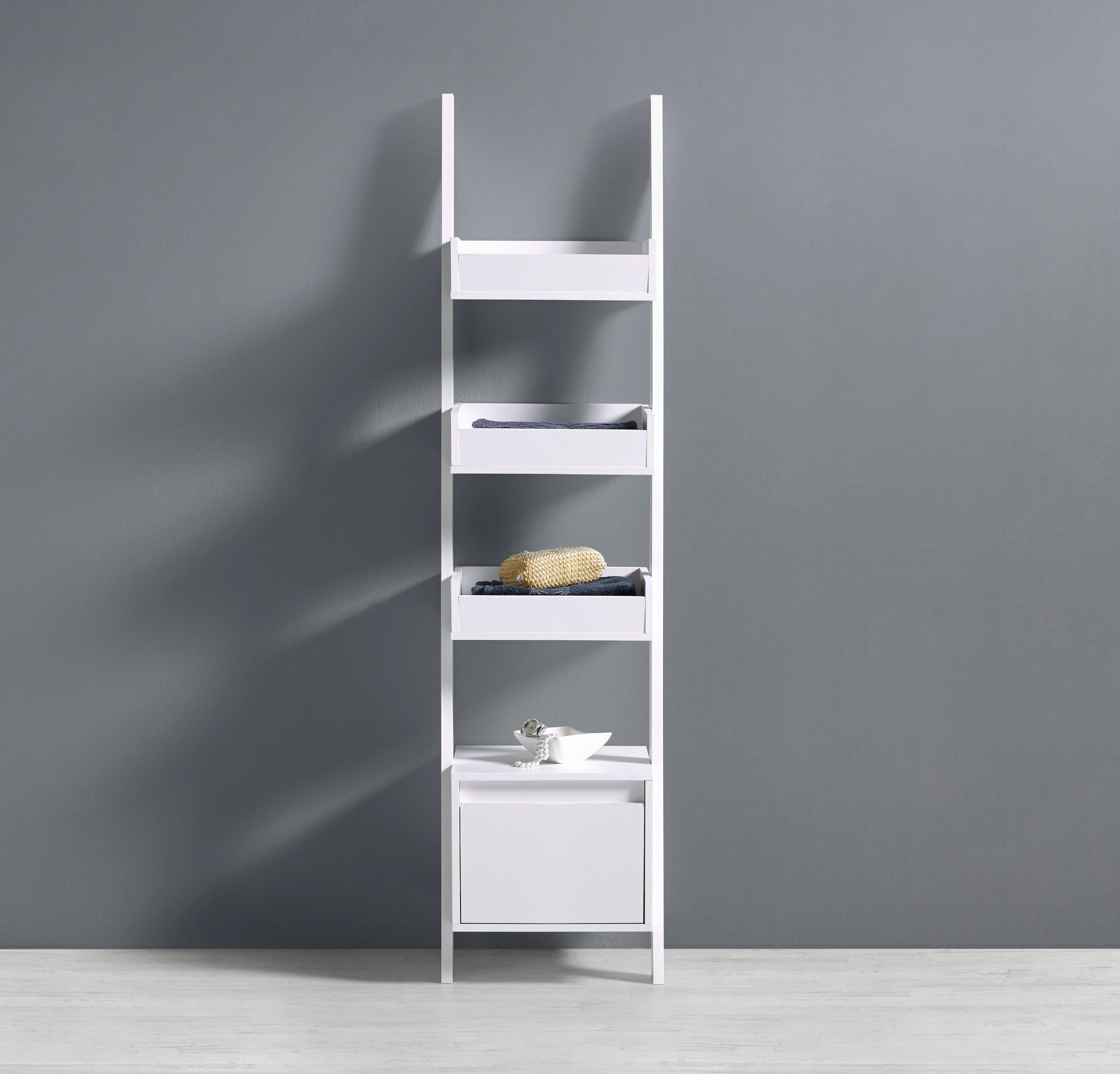 Regal Basic - Weiß, MODERN, Holz/Holzwerkstoff (36/146,5/36,5cm) - MODERN LIVING