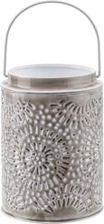 Laterna Sumati - bela/svetlo siva, Trendi, kovina (12/16cm) - Mömax modern living