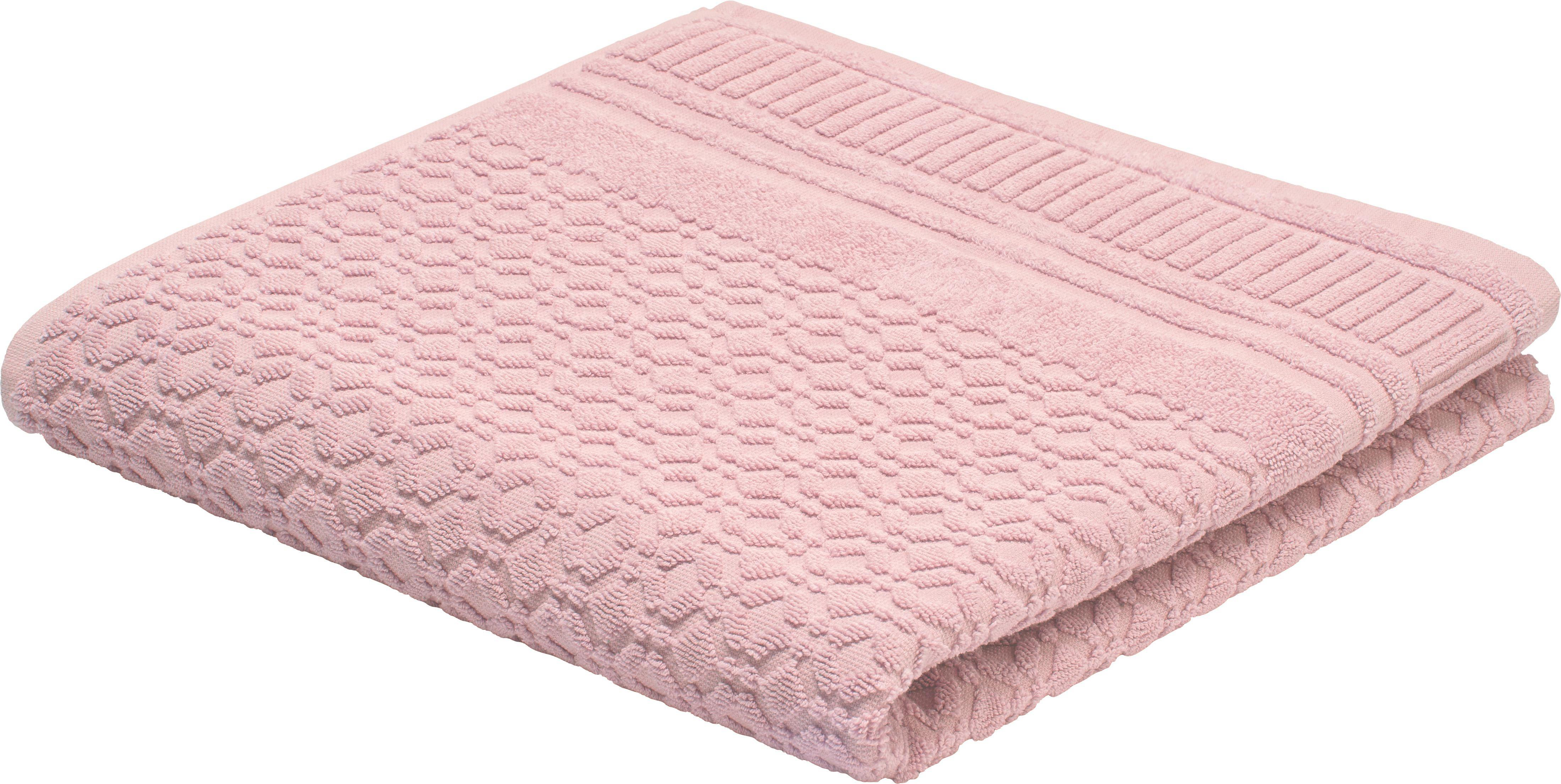 Duschtuch Carina in Rosa - Rosa, ROMANTIK / LANDHAUS, Textil (70/140cm) - MÖMAX modern living