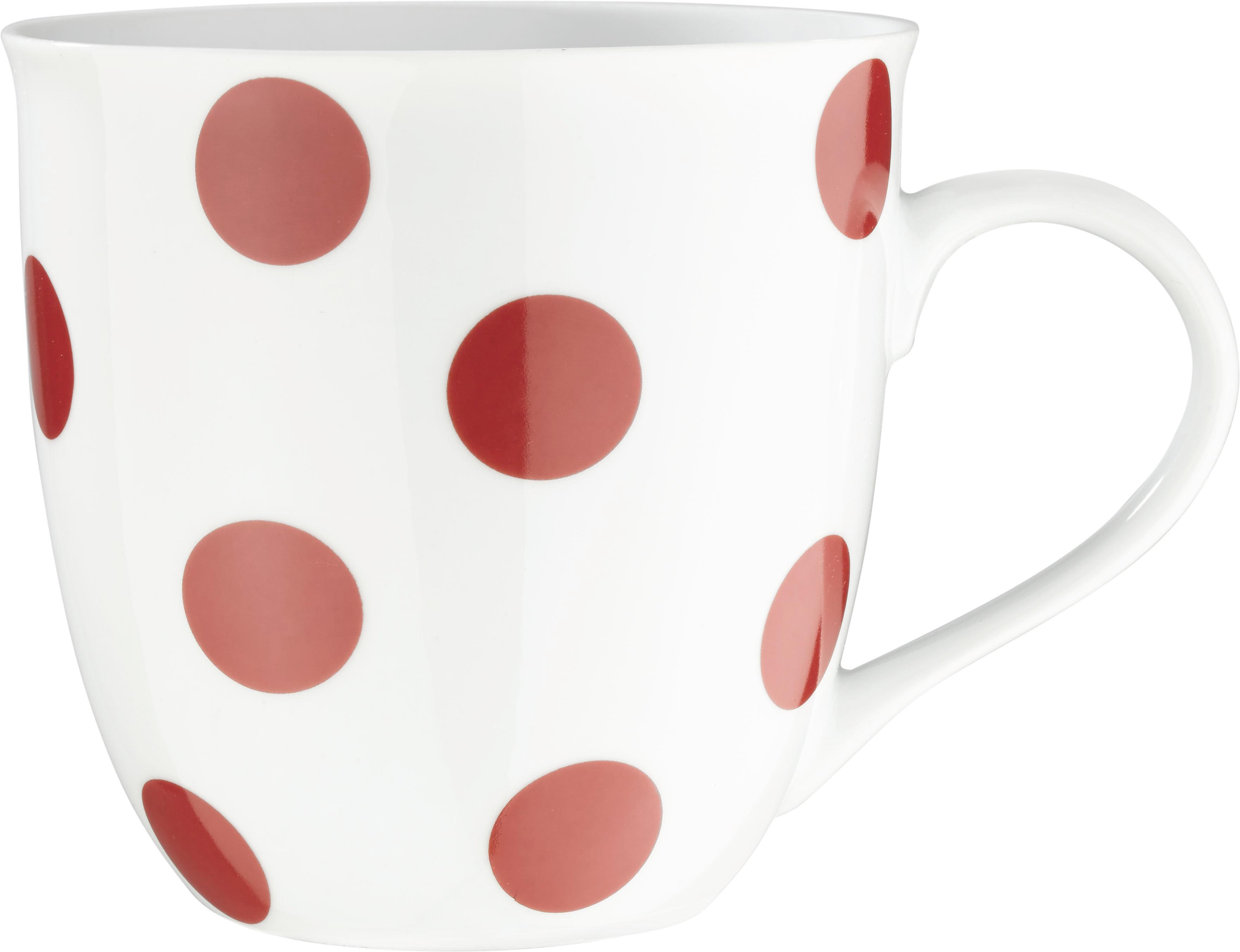 Velika Skodelica Pongo - rdeča/siva, Konvencionalno, keramika - MÖMAX modern living