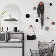 Haken Pamilla in Schwarz, 3er Set - Schwarz, MODERN, Textil (10/8/6/8/8/7,5cm) - Modern Living