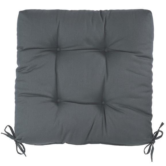 Sedežna Blazina Elli - antracit, tekstil (40/7/40cm) - Based
