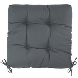 Sitzkissen Elli ca. 40x7x40cm - Anthrazit, Textil (40/40/7cm) - Based