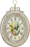Wanduhr Elizabeth - Silberfarben, MODERN, Glas/Metall (56,5/6,5/82cm) - Premium Living