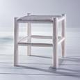 Hocker Phil - Weiß, KONVENTIONELL, Holz (40/45/40cm) - Premium Living