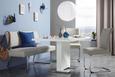 Étkezőasztal Campino - Króm/Fehér, modern, Faalapú anyag/Fém (140/75/90cm)