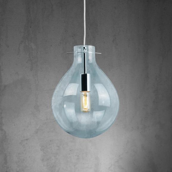Pendelleuchte James - Grau, MODERN, Glas (26/120cm) - Modern Living