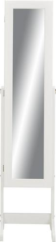 Schmuckschrank in Weiß - Schwarz/Weiß, MODERN, Glas/Holzwerkstoff (34/145/40cm) - Mömax modern living