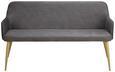 Sitzbank Chrisi - Dunkelgrau, MODERN, Textil/Metall (150/84/54cm) - Modern Living