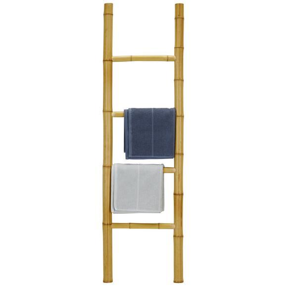Handtuchhalter aus Bambus - Naturfarben, Holz (40/140/5cm) - Modern Living