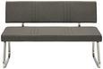 Sitzbank Grau/Chromfarben - Chromfarben/Grau, MODERN, Textil/Metall (140/84,5/57cm) - Mömax modern living