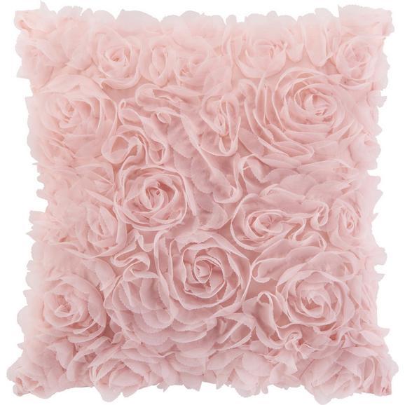 Okrasna Blazina Rosalinde - roza, Romantika, tekstil (40/40cm) - Mömax modern living