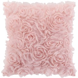 Zierkissen ROSALINDE in Rosa, ca. 40x40cm - Rosa, ROMANTIK / LANDHAUS, Textil (40/40cm) - Mömax modern living