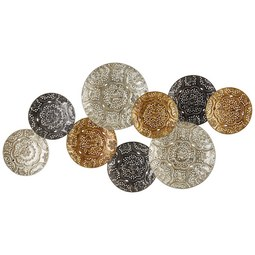 Wanddeko Luna aus Metall - Silberfarben/Goldfarben, Metall (109/57/8cm) - Mömax modern living