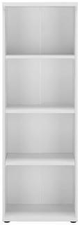 Standregal in Weiß - Schwarz, KONVENTIONELL, Holzwerkstoff/Kunststoff (50/145/35cm) - Premium Living