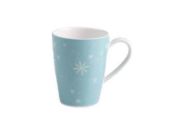 Kaffeebecher Vivo - Türkis/Weiß, KONVENTIONELL, Keramik - VIVO