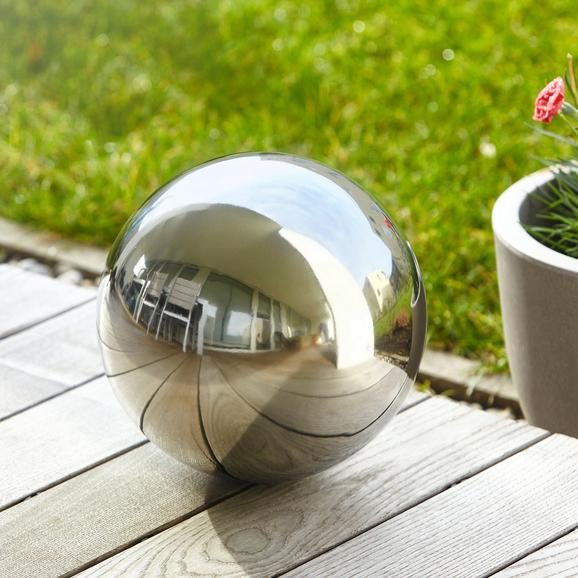 Dekokugel aus Edelstahl Ø ca.28cm ''Mia'' - Silberfarben, Metall (28cm) - Bessagi Garden