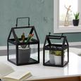 Rastlinjak Clara - črna, kovina/steklo (18,5/17,5/27cm) - Mömax modern living
