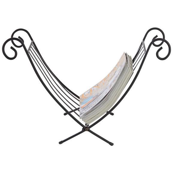Újságtartó Állvány Fekete Fém Iron - Fekete, Fém (32/35/35cm) - Mömax modern living