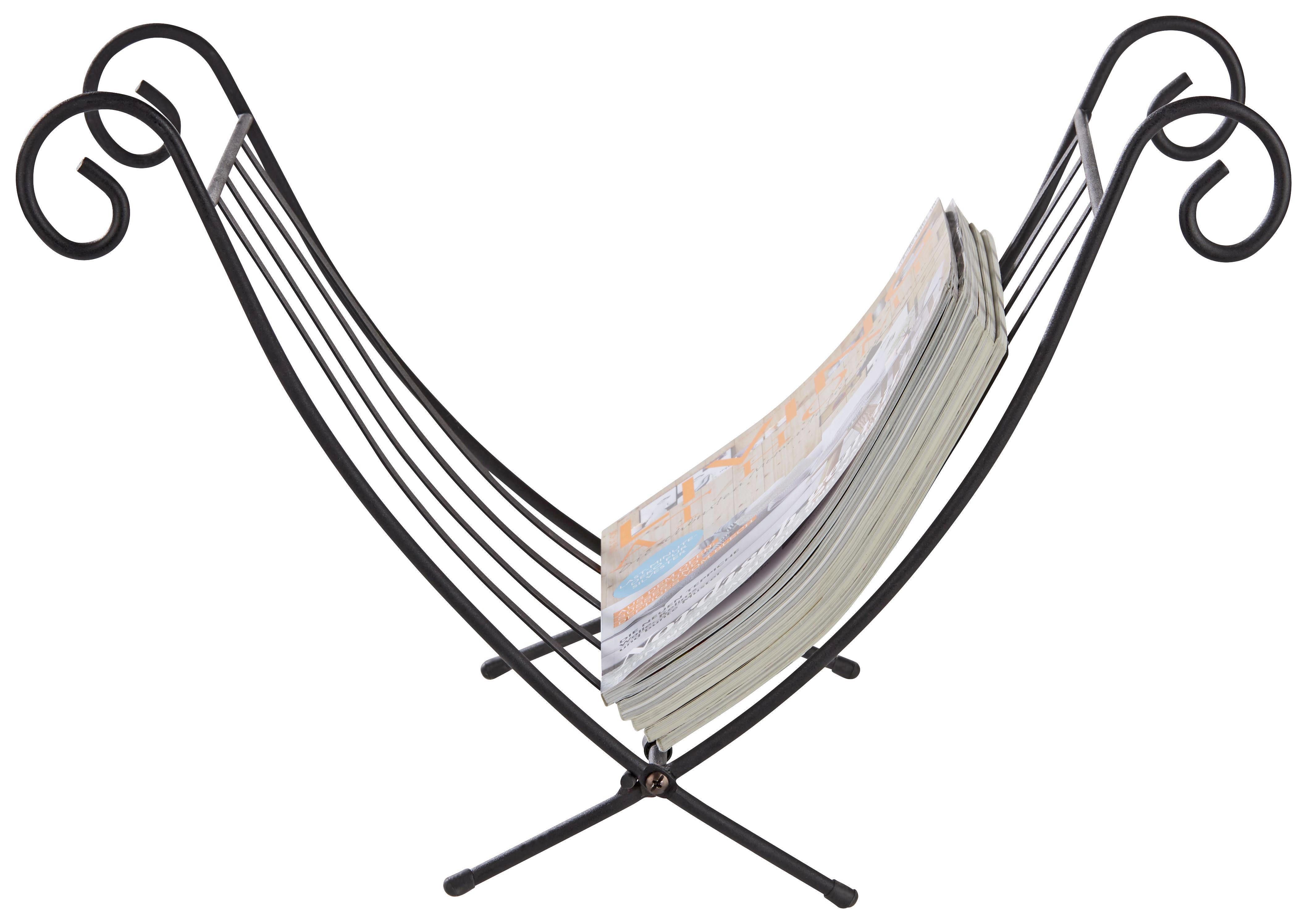 Zeitungsständer Iron in Schwarz - Schwarz, Basics, Metall (32/35/35cm) - MÖMAX modern living