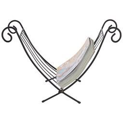 Zeitungsständer Schwarz - Schwarz, Basics, Metall (32/35/35cm) - Mömax modern living