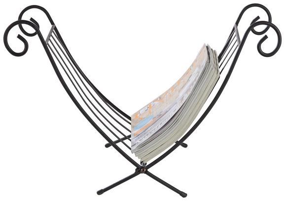 Zeitungsständer Schwarz - Schwarz, LIFESTYLE, Metall (32/35/35cm) - Mömax modern living