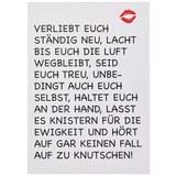 Postkarte mit Spruch in Weiß - Multicolor, Papier (10,5/14,8cm)