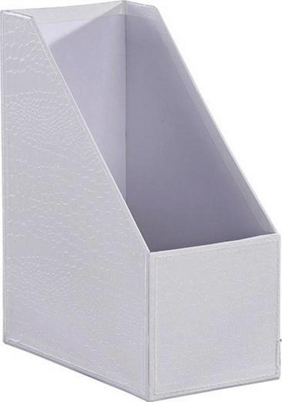 Zeitschriftenordner Magnolia in Weiß - Weiß, LIFESTYLE, Karton (29/12,8/23,5cm) - MÖMAX modern living